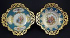 Antique Pair of Klemm Dresden Scenic Dishes