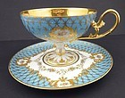 Outstanding Dresden Enameled Tea Cup & Saucer