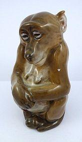 Royal Copenhagen Porcelain Mama Monkey