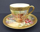 Antique Royal Doulton English Gardens Demitasse Cup & Saucer