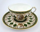 Antique Royal Worcester Tea Cup & Saucer with Pheasants