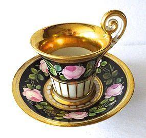 Antique Nymphenburg Demitasse Cup & Saucer