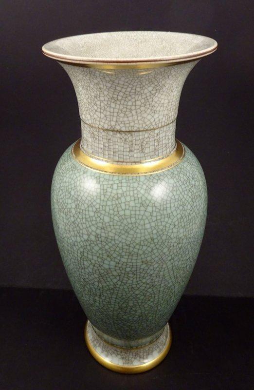 Mid Century Royal Copenhagen Baluster Crackle Vase Item 1320624