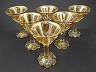 6 Antique Moser Panel Cordial Glasses