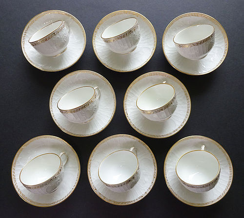 8 Antique KPM   Demitasse Cups & Saucers