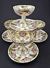 4 Antique Bernardaud & Co. Limoges Sherbet Cups & Saucers