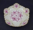 Antique Meissen Pink Indian Serving Dish