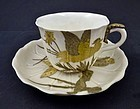 Royal Worcester Aesthetic Japanesque Tea Cup & Saucer
