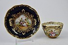 Antique Lamm Dresden Demitasse Cup & Saucer