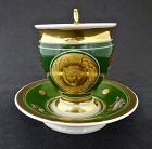 Antique Paris Porcelain Neo-Classical Cup & Saucer