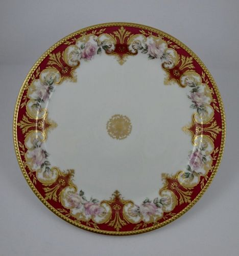 Antique Haviland & Co Limoges Serving Platter with Roses