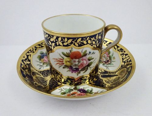 Antique Spode Regency Period Cup & Saucer