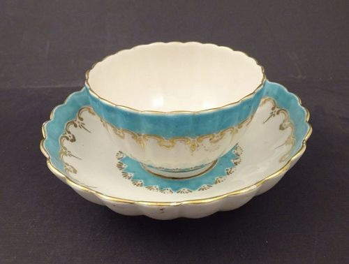 Antique Chelsea Derby Tea Bowl & Saucer