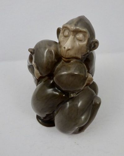 Vintage Bing & Grondahl Copenhagen, Sleeping Monkeys