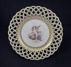 Antique Cauldon Cherub Cabinet Plate
