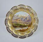 Antique 19th C. English Scenic Cabinet Plate