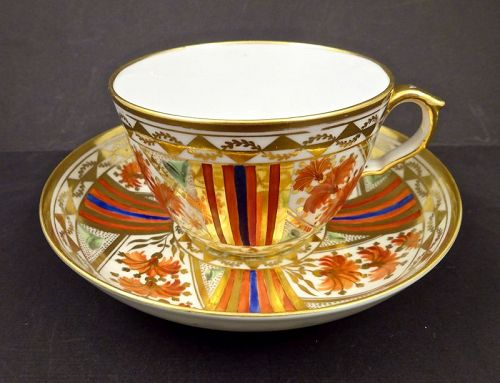 Coalport Tea Cup & Saucer, Brightly Colored