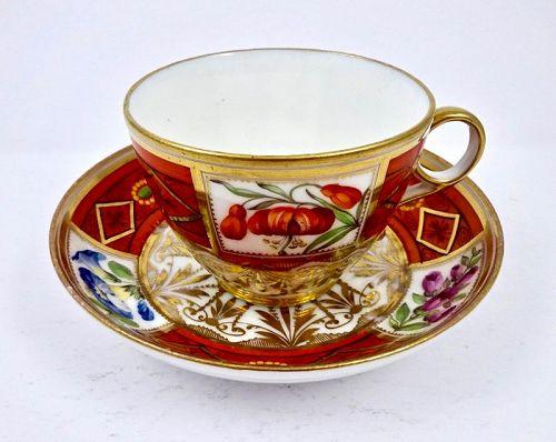 Spode Tea Cup & Saucer, Circa 1800