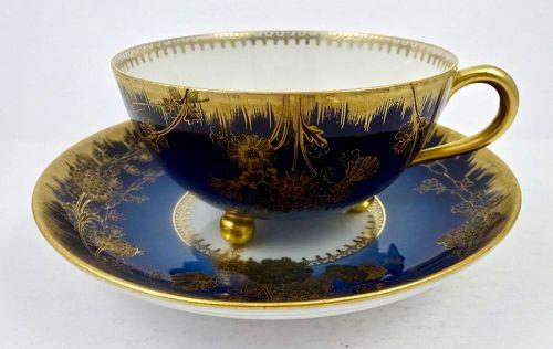 Antique Haviland Limoges Dammouse Tea Cup & Saucer