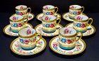 Antique Demitasse Cups & Saucers, Set of 8, Charles Ahrenfeldt Limoges