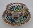 Remarkable Antique Herend Double Walled Cup & Saucer
