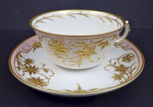 Antique KPM Royal Berlin Nouveau Cup & Saucer