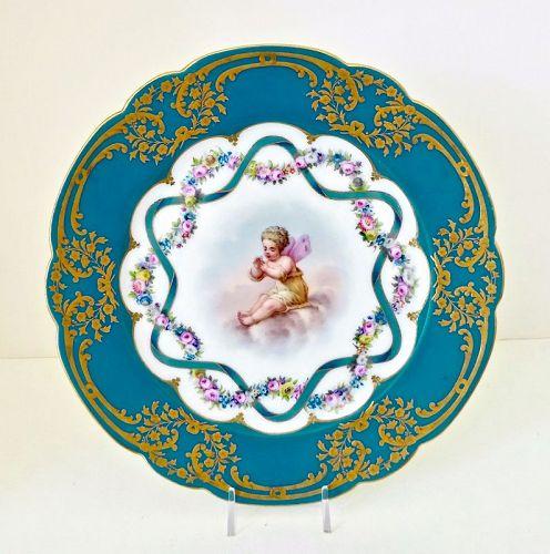 Antique Russian Cabinet Plate, Alexandrinsky Service