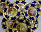 8 Royal Doulton Cabinet Plates with Roses by Woodings