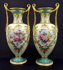 Antique Pair of Spode Copeland Vases by Norwich