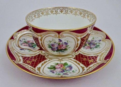 Antique Sevres Cup & Saucer, C. 1865
