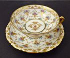 Antique Carl Thieme Dresden Tea Cup & Saucer
