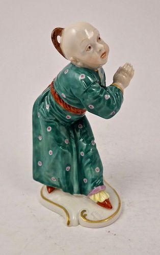 Antique Nymphenburg Chinese Boy Figurine by Bustelli