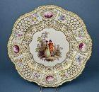 Antique Meissen Cabinet Plate, High Relief