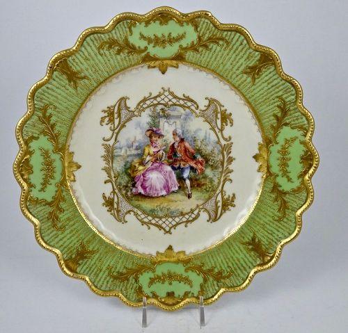 Antique Hirsch Dresden Scenic Cabinet Plate