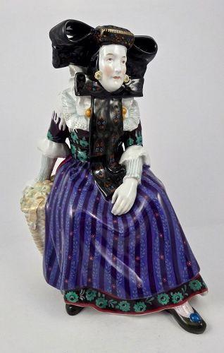 Antique KPM Figurine, Spreewald Apple Seller
