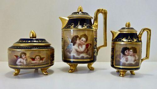 Antique Rudolstadt Tea Set Vienna Style