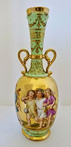 Antique Klemm Dresden Vase Children