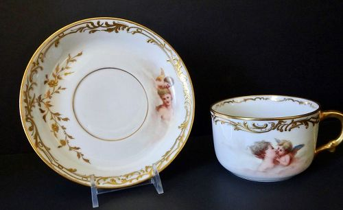 Antique Hutschenreuther Tea Cup & Saucer