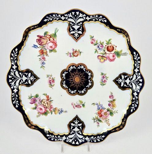 Antique Coalport Enameled  Cabinet Plate