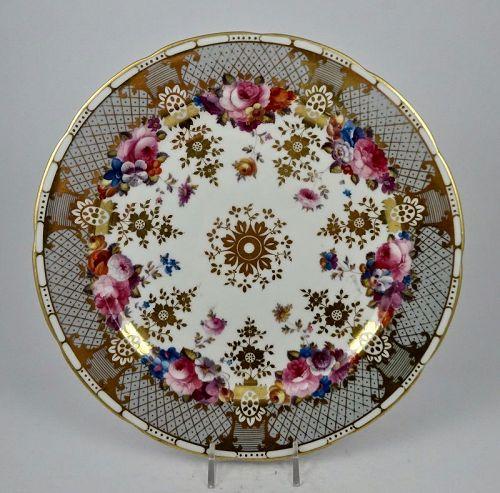 Antique Cauldon Cabinet Plate Signed
