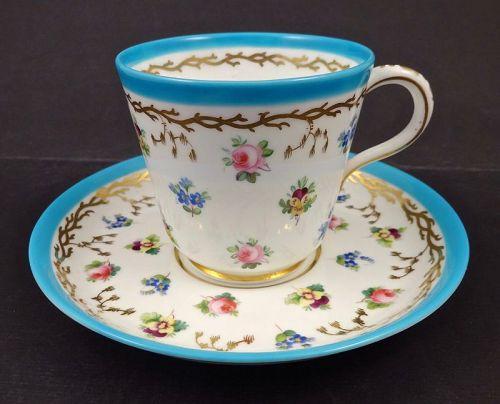 Antique Minton Tea Cup & Saucer