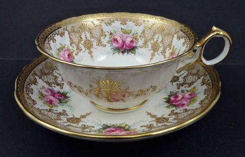 Antique Cauldon Tea Cup & Saucer, Signed