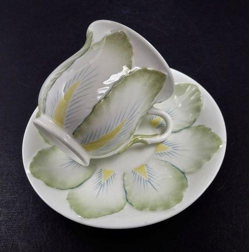 Antique Rorstrand Tea Cup & Saucer, Flora-Form