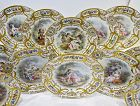12 Antique Cabinet Plates, Sevres Style