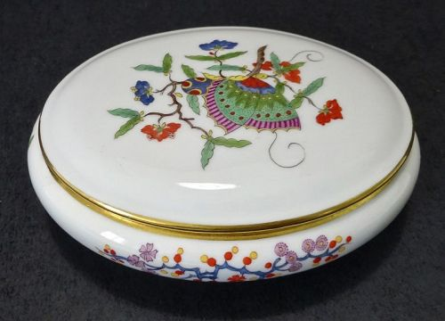 Meissen Porcelain Box, Butterflies