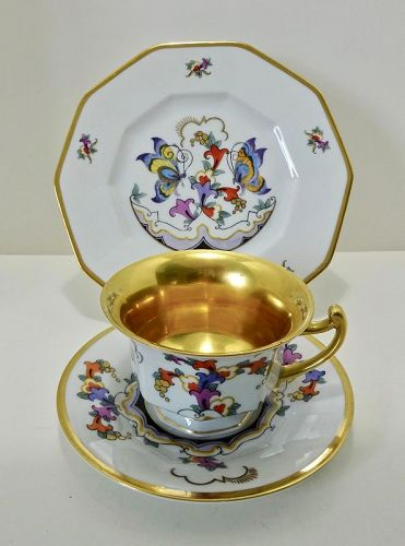 Vintage Rosenthal Tea Cup, Saucer, and Dessert Plate, Art Deco