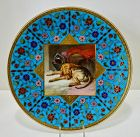 Antique Mintons Cabinet Plate Scenic, Enameled
