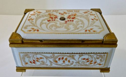 Antique KPM Berlin Trinket Box Jeweled