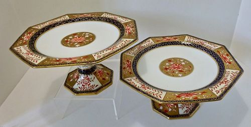 Pair of Antique Wedgwood Compotes or Dessert