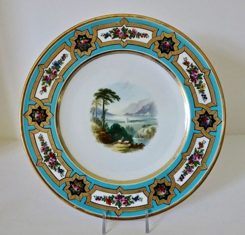 Antique Aynsley Cabinet Plate, Scenic